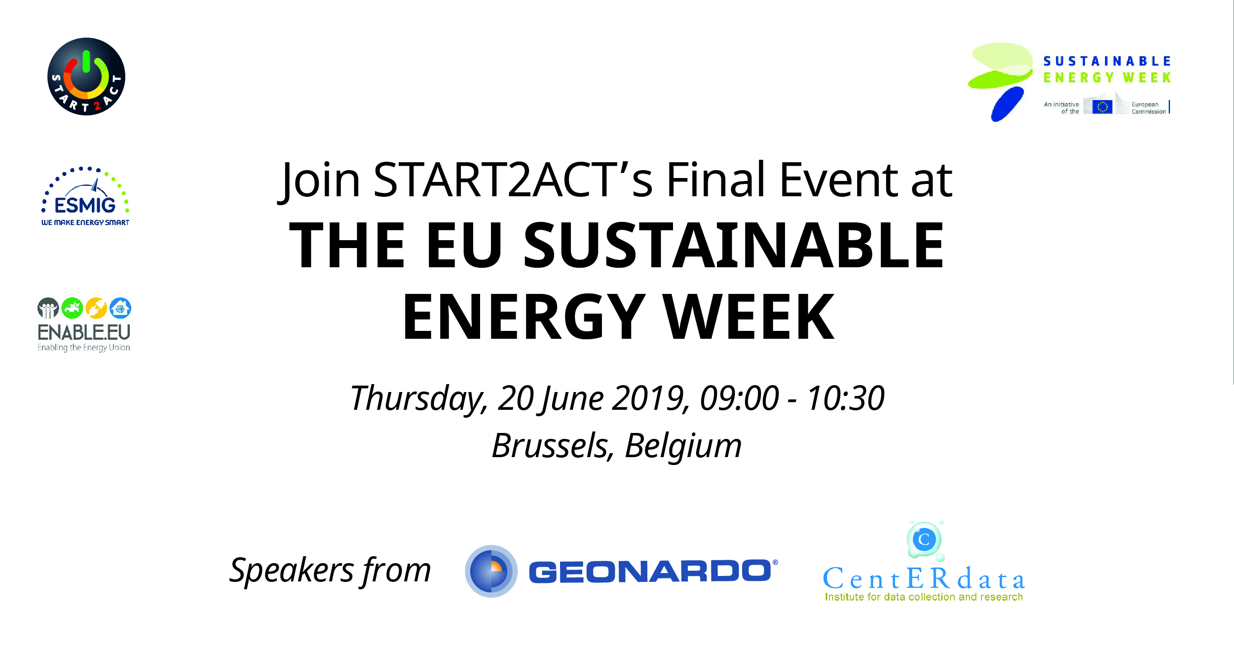 Join START2ACT's Final Event at the EU Sustainable Energy Week